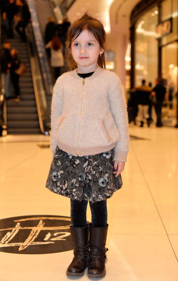 Elegant jacquard midi skirt for girls