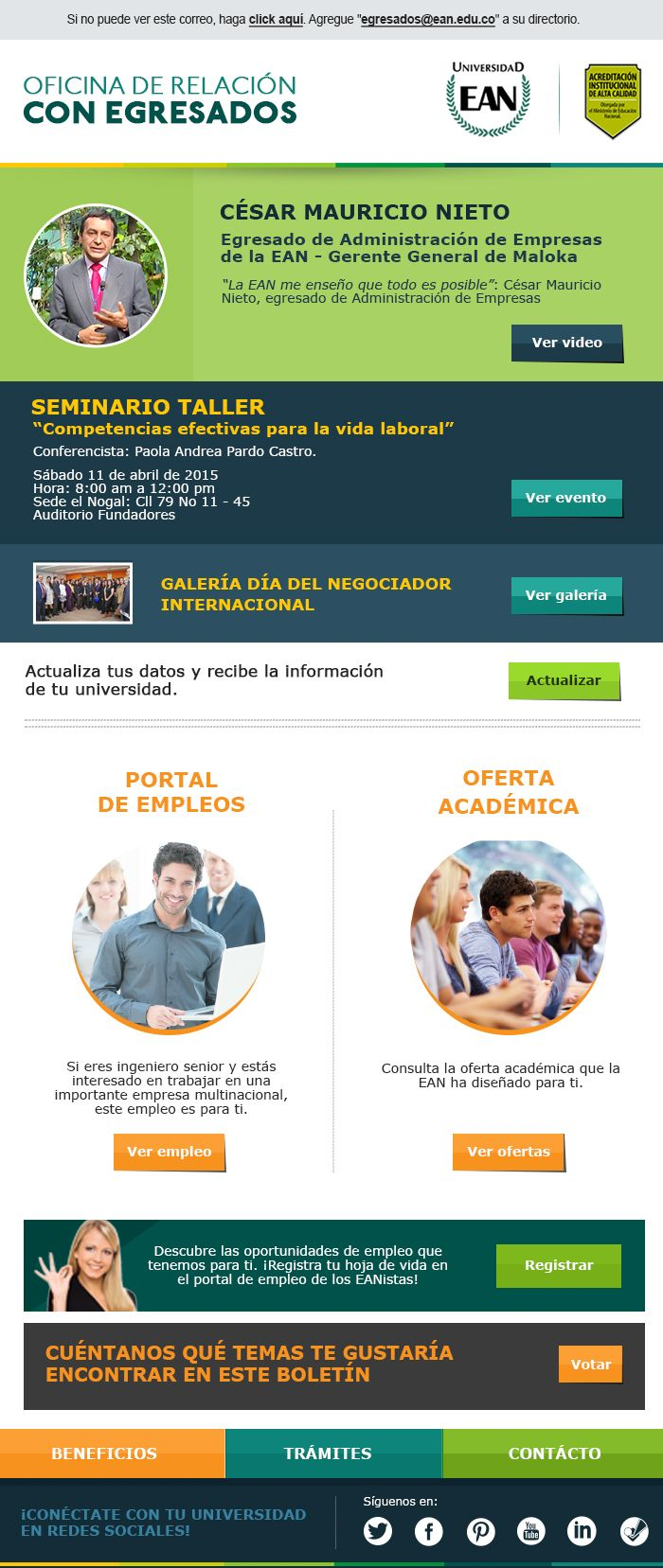 E-Mail Marketing #EAN #Universidades