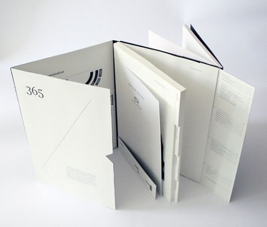 Really unique and interesting way to put together a layout for a book. I like that it folds out in different ways. This could be really cool and a nice way to design it. ***inspiration