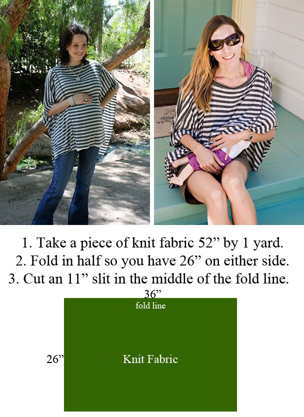 So, check out this new nursing cover style. What I like about it is that it looks like it might be a shirt. Just keep it in your bag and ...