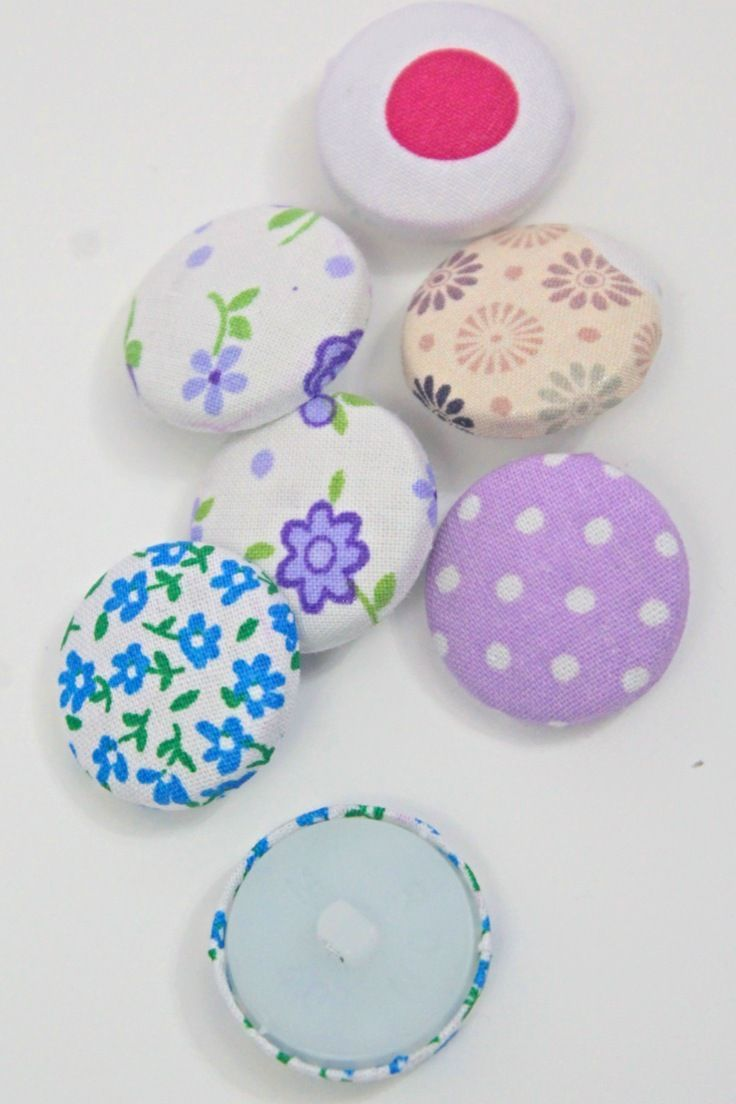 Learn How To Make Fabric Buttons For Your Own Projects At Home Without Any Special Tools Or A Button Cover Kit Diy Gifts Crafts Diy Sewing Projects