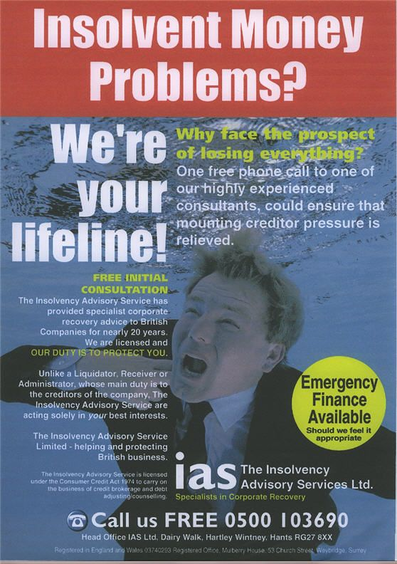 Desperate news for one company is business for another...#Insolvency# www.thisworks.co.uk/leaflet_design.php