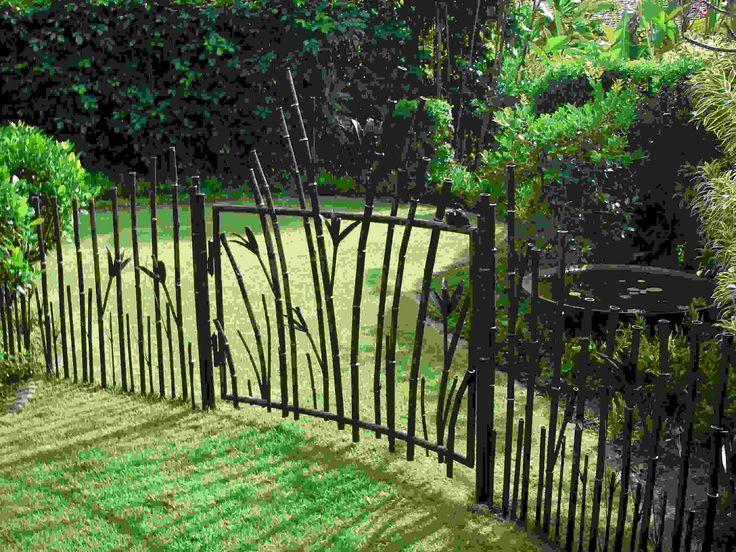 Clôture de jardin de forme intéressante