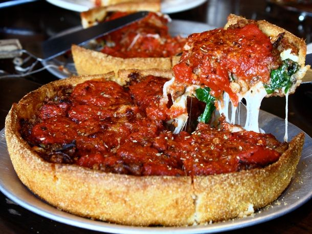 Little Star Pizza in San Francisco, CA: Deep Dish Pizza, Pizzas We Ve, Deepdish Pizza, Enticing Pizzas, Dishes, San Francisco, Food Drinks