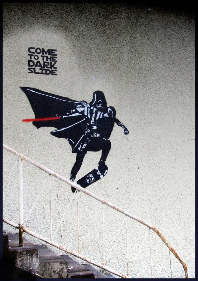 dark side of skateboarding. vader grind!