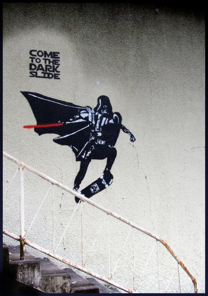 dark side of skateboarding. vader grind!