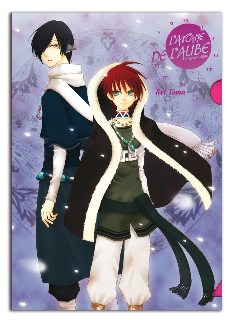 """Chemise plastique (Clear File) """"L'Arcane de L'aube"""", offert à l'achat d'un manga de la série."""