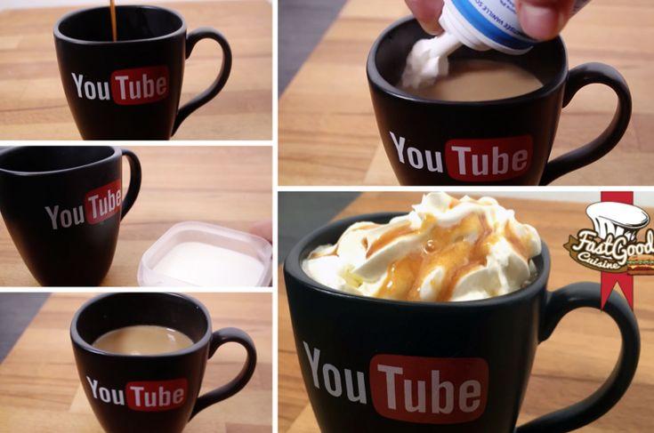 CAFÉ CARAMEL BEURRE SALÉ  – Café – Coulis caramel beurre salé – Extrait de vanille – Sucre – Lait – Crème chantilly