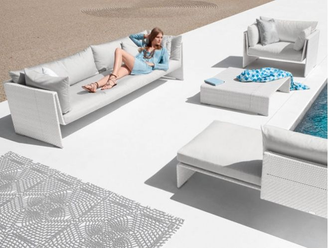 SLIM LINE LOUNGE SEATING DEDON | Outdoor Furniture | Pinterest |  Contemporary Beach House, Outdoor Living And White Lounge
