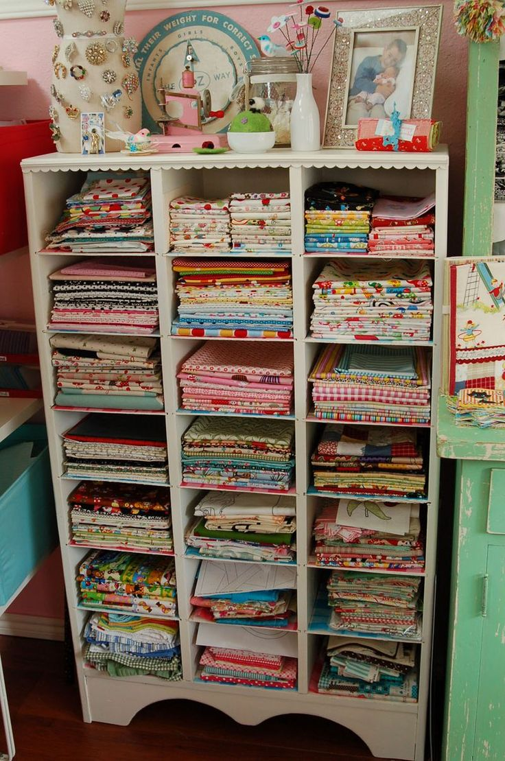 fabric storage idea i need this sewing rooms pinterest
