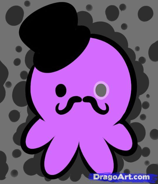 How to Draw Gentleman Octopus by Dawn Darko / DragoArt
