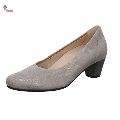 Gabor Shoes Gabor Gabor, Escarpins Femme - Argent (62 Visone), 39