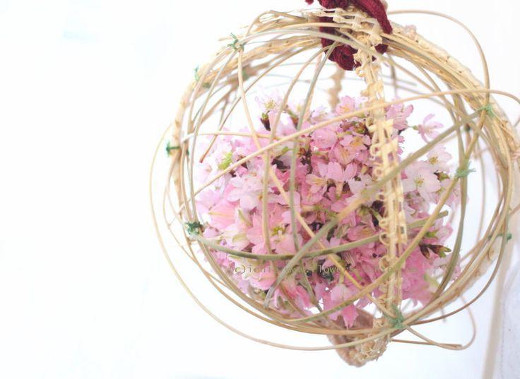 ブーケ 白無垢 手まりの桜 : 一会 ウエディングの花