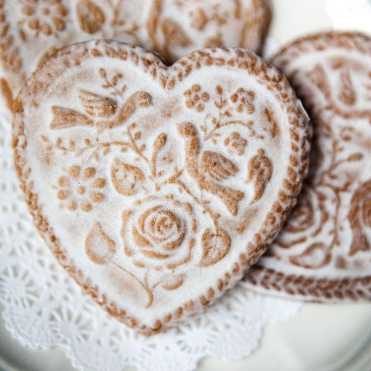Use a cookie stamp and runny icing to make gingerbread cookies even more special!