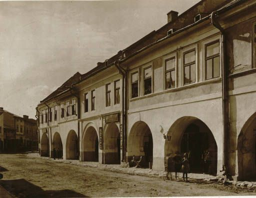 Żółkiew near Lwów: a street :: Jan Bulhak Collection :: Digital Collections :: University at Buffalo Libraries. Click the image to visit the University at Buffalo Libraries Digital Collection and learn more about the photograph. #ublibraries #polishroom #JanBulhak #Poland