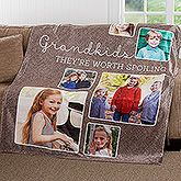 Buy personalized fleece blankets with our Picture Perfect design. Add up to 6 photos. Free personalization & fast shipping.