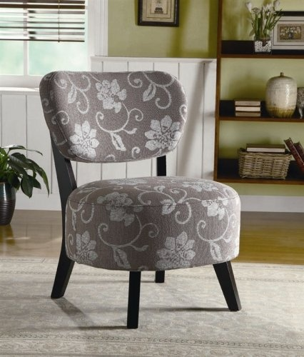 Grey/White Floral Design Accent Chair $139 Http://www.furniture2go.
