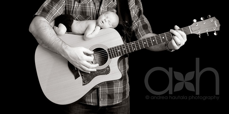 Newborn Guitar Pose of my sweet baby girl!  This is the BEST pose ever!!!