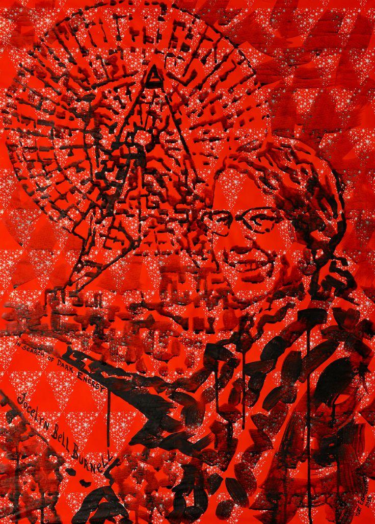 """Юрий Ермоленко, """"Джоселин Белл Бернелл II"""", (проект """"В ПОИСКАХ ТЕМНОЙ ЭНЕРГИИ""""), 2016, бумага, акрил, 70х50 см.  #JocelynBellBurnell #ДжоселинБеллБернелл #астрофизика #astrophysics #observatory #обсерватория #quantumphysics #astrophysicist #science #RadioTelescope #Telescope #ModernPhysics #RadioAstronomy #DarkEnergy #PhysicalCosmology #astronomy #YuryErmolenko #еrmolenko #ЮрийЕрмоленко #ермоленко #ЮрiйЄрмоленко #єрмоленко #rapanstudio #modernart #contemporaryart #painting #FacevinylGallery"""