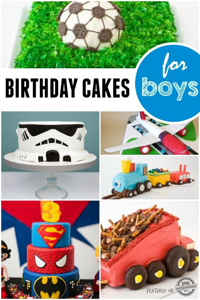 Lots of awesome birthday cakes for little boys.