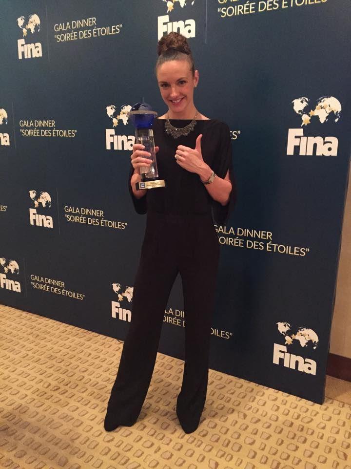 Katinka Hosszú - Iron Lady, the female swimmer of the year, 2014 http://en.wikipedia.org/wiki/Katinka_Hossz%C3%BA