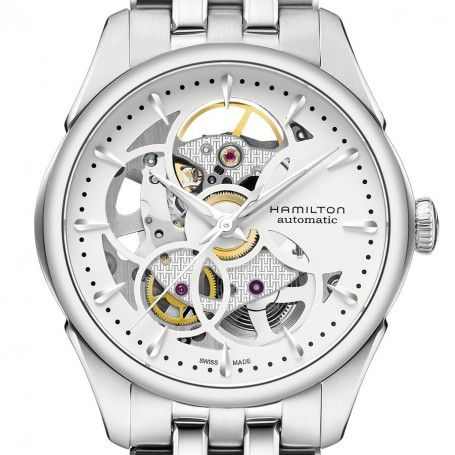 Jazzmaster Viewmatic Skeleton Lady automatique acier - Hamilton