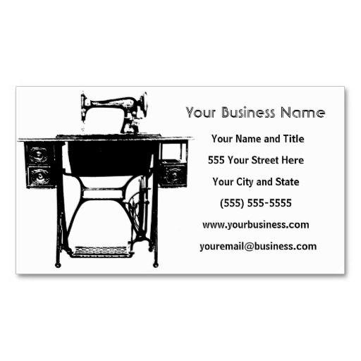 Custom Business Cards - Seamstress / Tailor