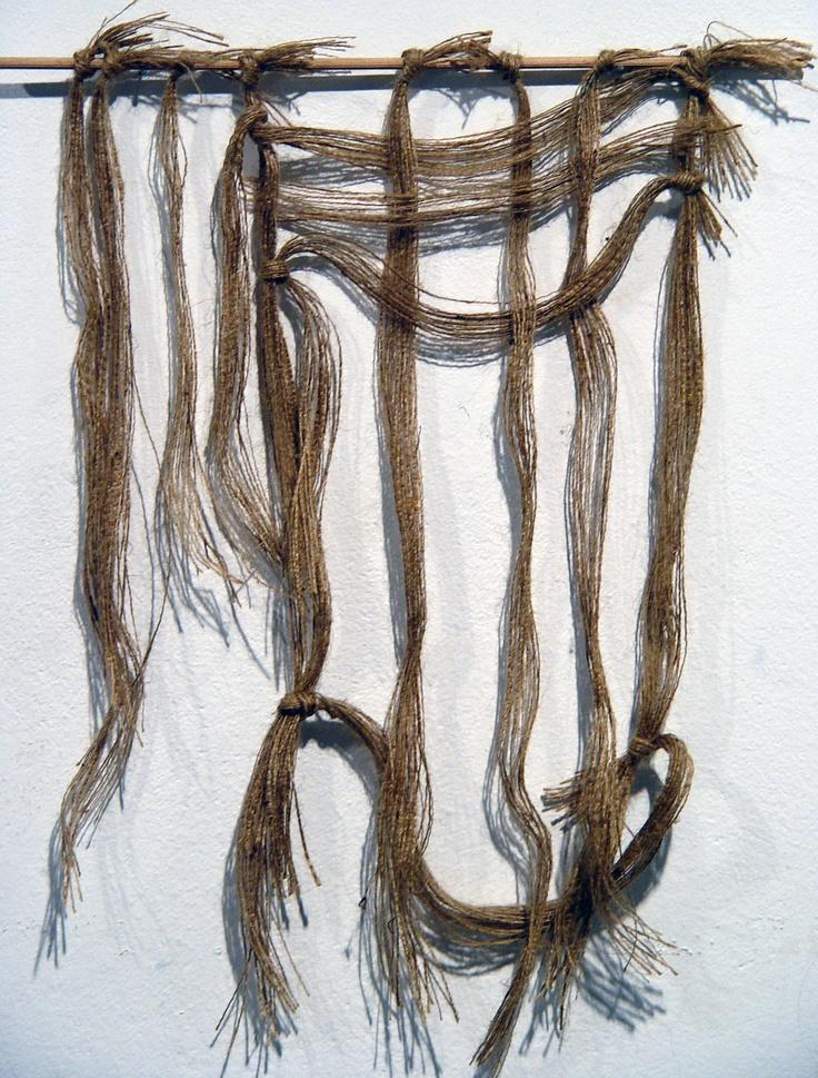 Kaziale Stavroula  Wood, threads of Jute.