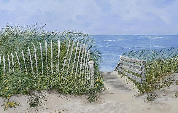 Beach Scene by Virginia McLarens