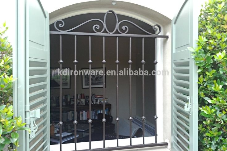 Simple House Window Decor Security Wrought Iron Metal Window Grill