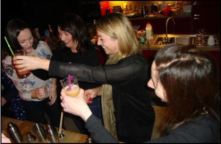 Hen party cocktail making classes in Aberdeen www.hireabarman.com