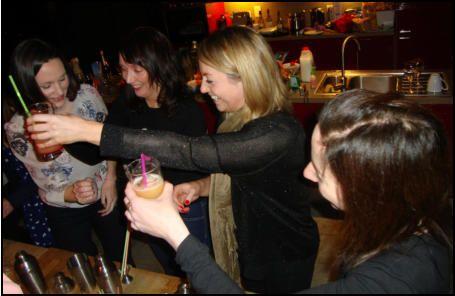 Hen party cocktail making classes in Aberdeen www.hireabarman.com