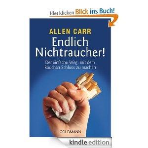 Endlich Nichtraucher!: Der einfache Weg, mit dem Rauchen Schluss zu machen  http://www.amazon.de/gp/product/B006OEVXNO/ref=as_li_ss_tl?ie=UTF8=1638=19454=B006OEVXNO=as2=gratisbuch-21      Kaum ein Raucher, der nicht schon einmal den Entschluss gefasst hat, mit dem Rauchen aufzuhören – und kaum einer, der nicht früher oder später seine guten Vorsätze wieder über den Haufen geworfen hat. All jenen, die bereit sind, mit dem blauen Dunst endgültig ...