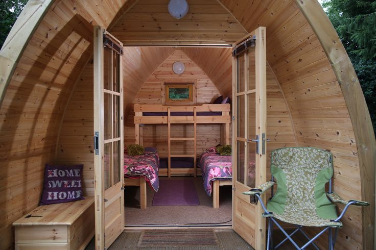 Glamping Pod at Whitemead Forest Park >> whitemead.co.uk