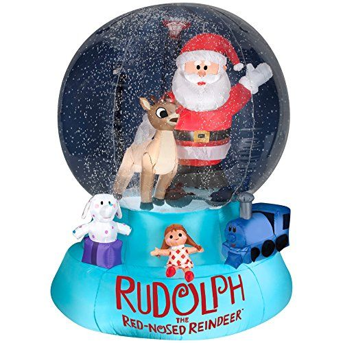 1000 images about inflatable snow globe christmas for Airblown christmas decoration