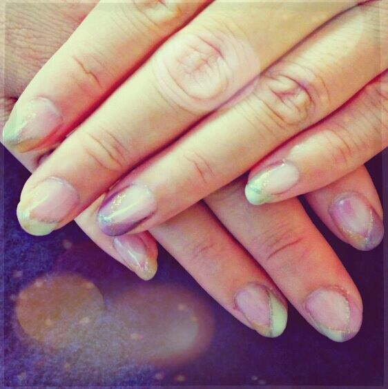 3tone french nailʕ·ᴥ· ʔ