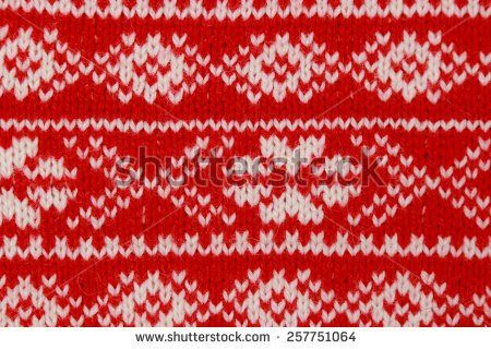 Knitted red sweater texture