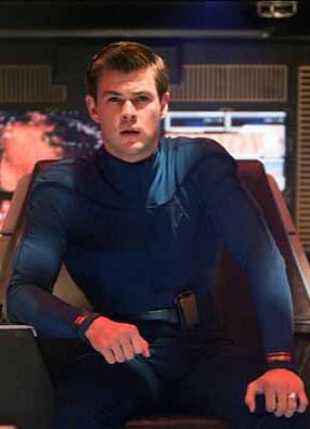Chris Hemsworth as Kirks Father - George Kirk on the USS Kelvin (Star Trek)