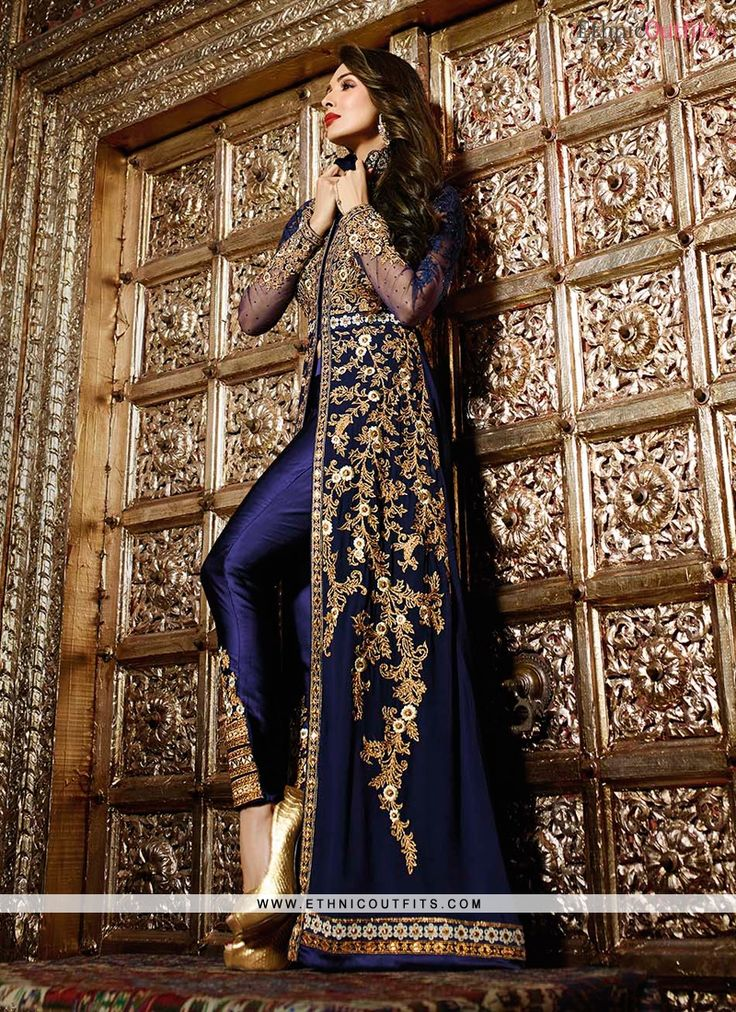 Malaika Arora Khan Resham Work Georgette Designer Suit  Email - support@ethnicoutfits.com Call - +918140714515 What's app/Viber- +918141377746