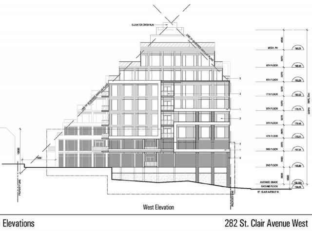 A West Elevation view of The Code Condos