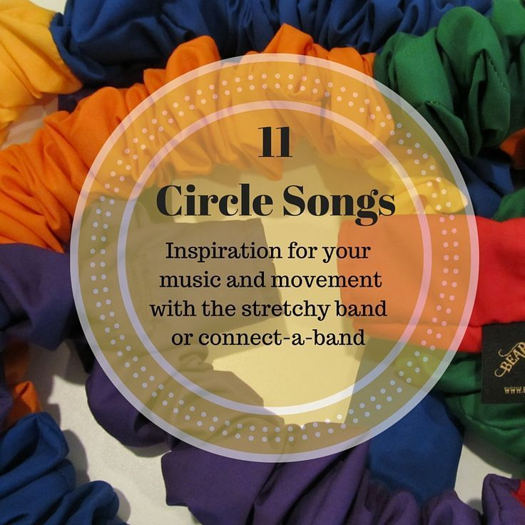 11 Songs referring to circles to inspire your stretchy band music and movement group times. The connect-a-band and stretchy band are made in the USA.