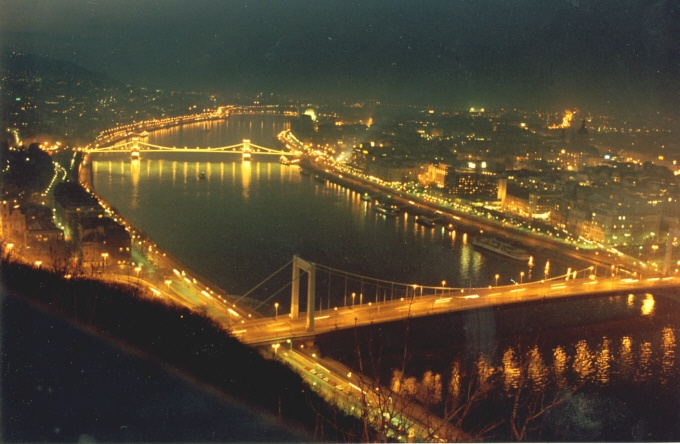 the bridges. Okay, so the Danube is NOT blue, but I never heard anyone complaining.