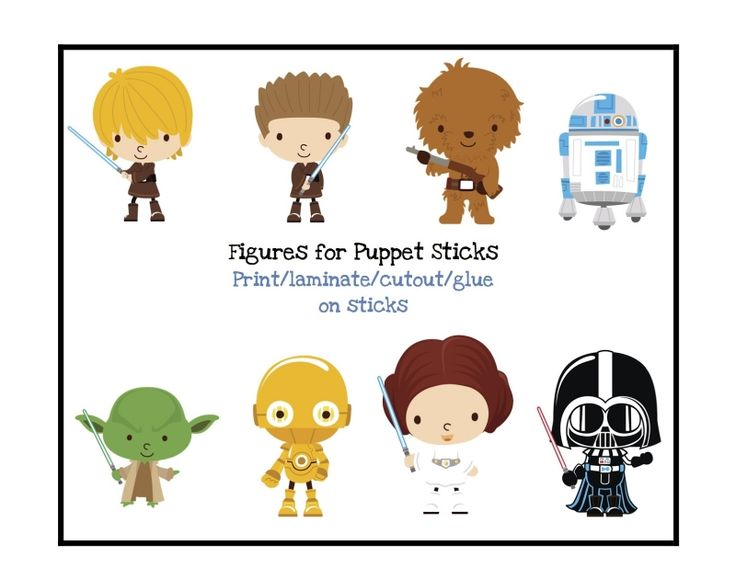 Free Star Wars Cartoon Character Printable #free