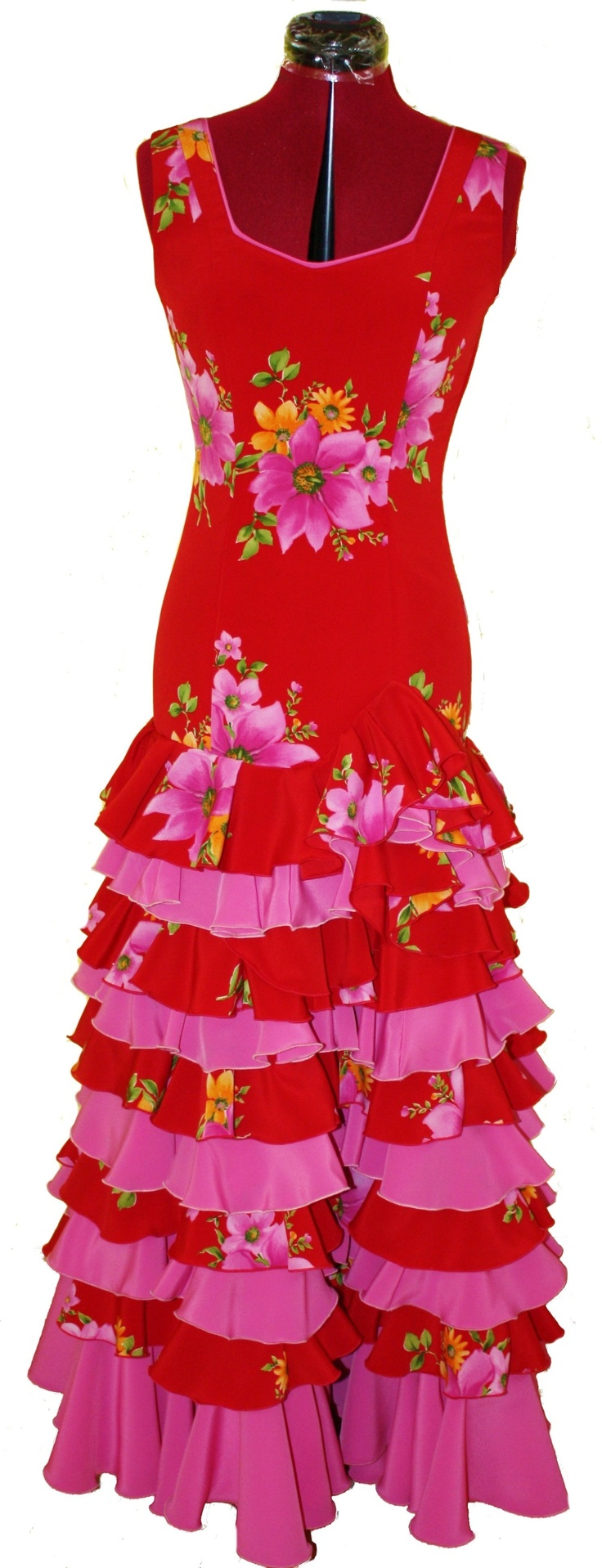 Custom Flamenco Dresses Red/Pink