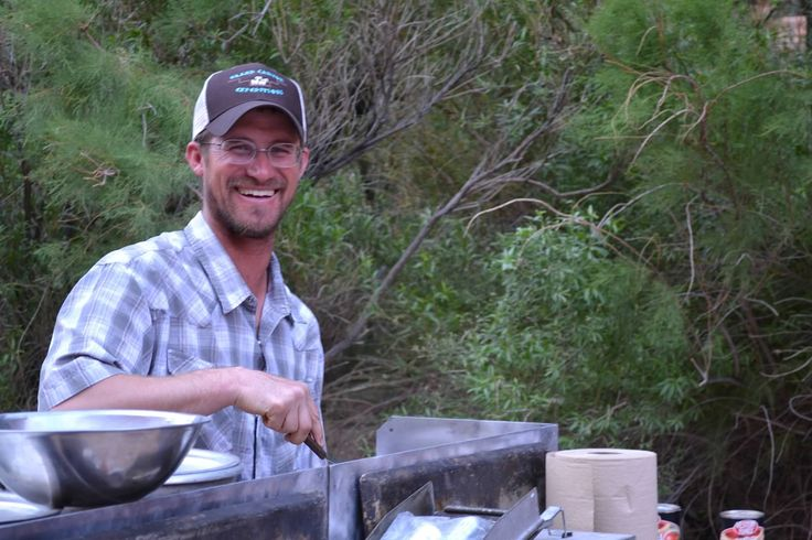 What a great smile from our own Greg Eastwood while cooking dinner!  Photo Credit: Joi Davis