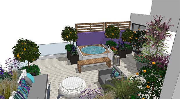 Garden Design Project Render For Madliena Landscaping Project With Images Garden Studio Landscape Projects Terrace