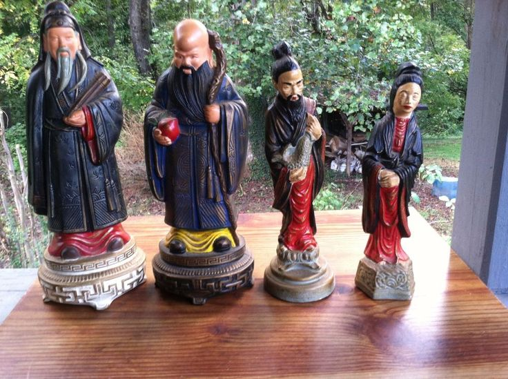 "vintage oriental figurines "" Antique Oriental People"