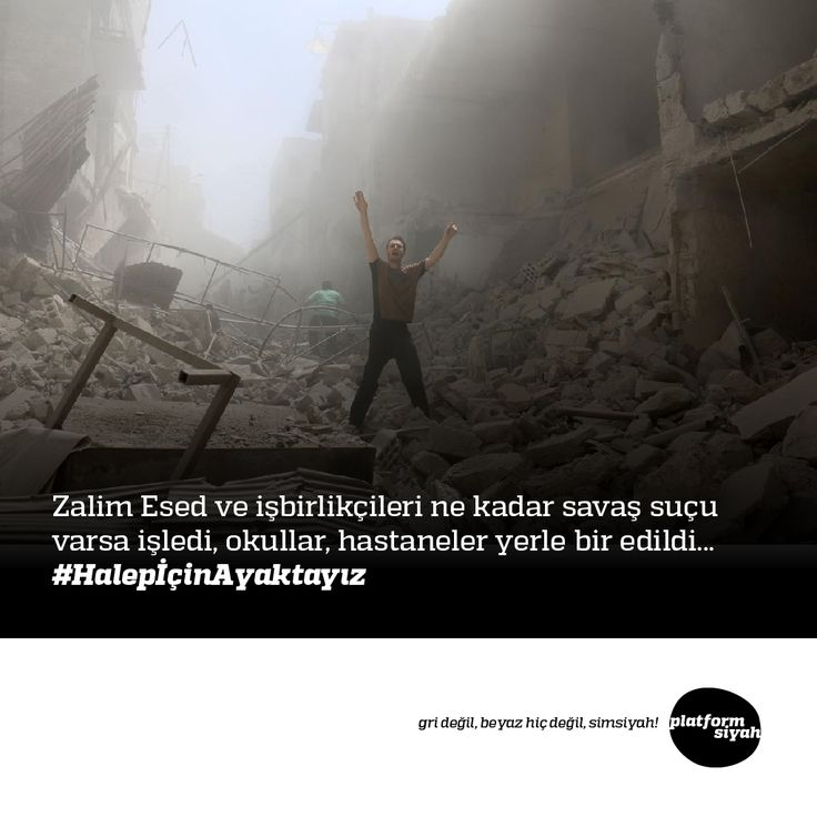 Zalim Esed ve işbirlikçileri ne kadar savaş suçu varsa işledi, okullar, hastaneler yerle bir edildi... #HalepİçinAyaktayız