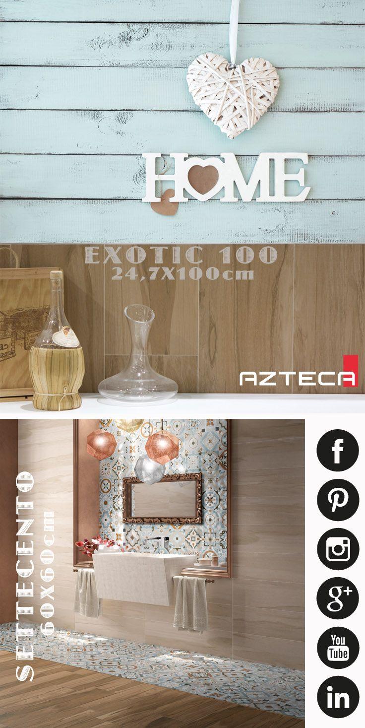 Exotic 100 & Seteccento 60. Perfecta madera cerámica combinada con baldosas hidráulicas. Una combinación que enamora. #madera #ceramica #baldosas #tendencia #ideas #reformas #aztecaceramica #exotic #settecento #azulejos #home #hogar #homedeco