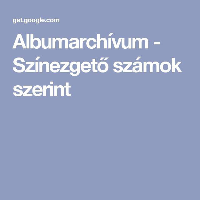 Albumarchívum - Színezgető számok szerint